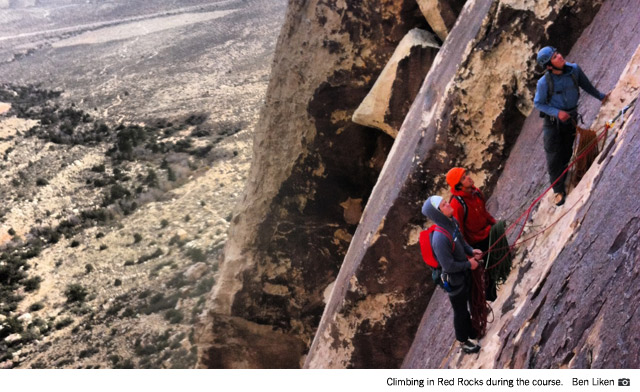 Climbers in Red Rocks during the course (Ben Liken).