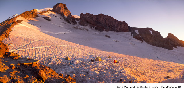 Camp Muir and the Cowlitz Glacier (Jon Mancuso)