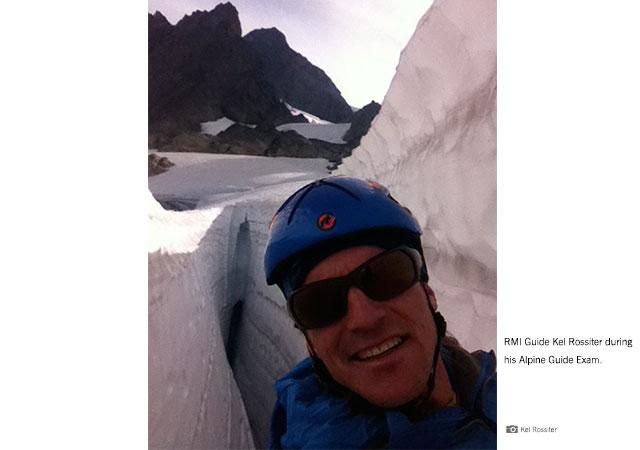 RMI Guide Kel Rossiter on his Alpine Guide Exam.