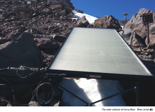 The solar collector at Camp Muir (Mike Uchal).
