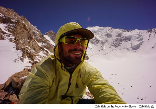 Zeb Blais on the Fedchenko Glacier (Zeb Blais)