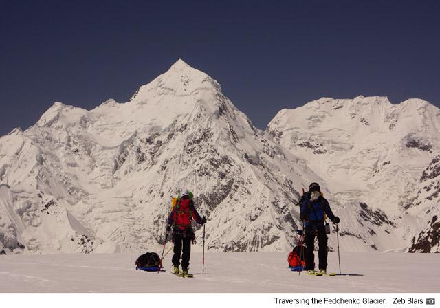 Traversing the Fedchenko Glacier (Zeb Blais)