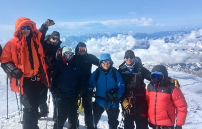 Mt. Elbrus: Gorum and Team Summit!