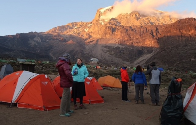 Kilimanjaro: Hahn & Team Receive a Warm Welcome at Barranco Camp