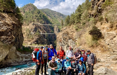 Everest BC Trek & Lobuche Climb: Dale & Team Reach Namche Bazaar