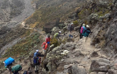 Kilimanjaro: Hahn & Team Climb Great Barranco Wall