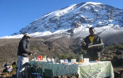Kilimanjaro: Okita & Team Scale Barranco Wall & Feast at Karanga Camp