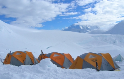 Mt. McKinley: Van Deventer & Team Rest at 11,000' Camp