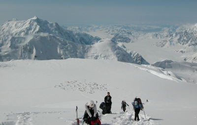 Denali Expedition: Gorum & Team Take a Cache to 16,600'