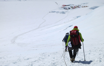 Denali Expedition: Jones & Team on Their Descent to the Airstrip