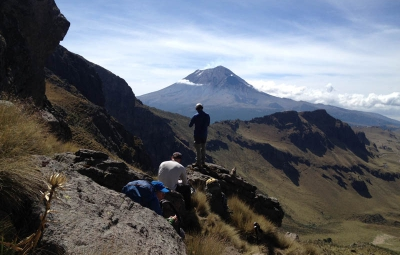 Mexico Volcanoes: Schmitt & Team at Ixtaccihuatl's High Camp