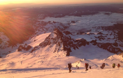 Mt. Rainier: Van Deventer & Team on Top