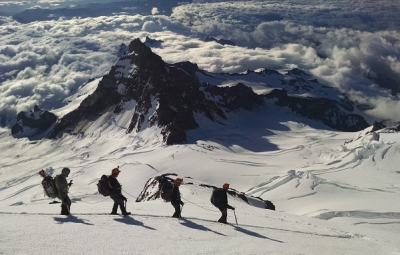 Mt. Rainier: A Late Start Leads to a Summit for the Four Day Climbs