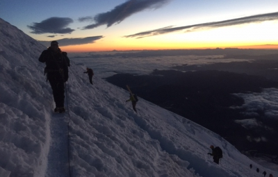 Mt. Rainier: Four Day Climb Summits with Good Weather