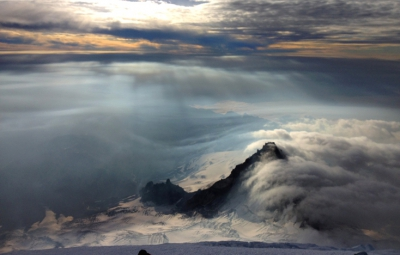 Mt. Rainier: Four Day Team Turned at Disappointment Cleaver